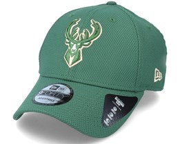 Milwaukee Bucks Diamond Era Essential 9Forty Green Adjustable - New Era