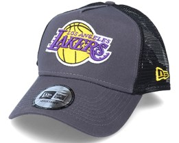 LA Lakers Dark Base  A-Frame Dark Grey/Black Trucker - New Era