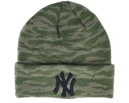 New York Yankees  Knit Olive Camo Cuff - New Era