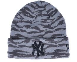 New York Yankees Knit Grey Camo Cuff - New Era