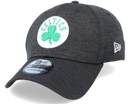 Boston Celtics Black Base Team Pop 39Thirty Heather Black Flexfit - New Era