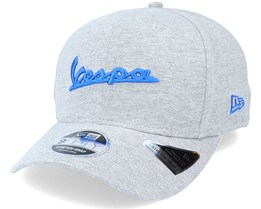 Vespa Wordmark 9Fifty Stretch Snap Heather Grey/Blue Adjustable - New Era