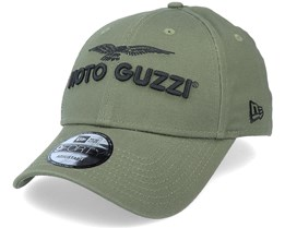 Moto Guzzi Wordmark 9Forty November Green/Black Adjustable - New Era