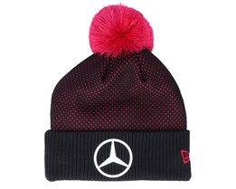 Mercedes E-Sports Engineered Knit Black/Pink Pom - New Era