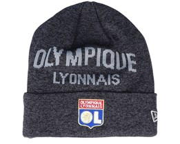Olympique Lyonnais Wordmark Knit Olylyo Black/Grey Cuff - New Era