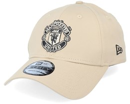 Manchester United Tonal Dad Cap Logo 9Twenty Tan Adjustable - New Era