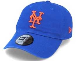 New York Mets Washed Dad Cap Casual Classic 9Twenty Royal/Orange Adjustable - New Era
