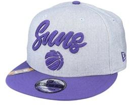Phoenix Suns NBA 20 Draft 9Fifty Heather Grey/Purple Snapback - New Era