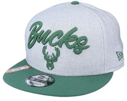 Milwaukee Bucks NBA 20 Draft 9Fifty Heather Grey/Forest Green Snapback - New Era