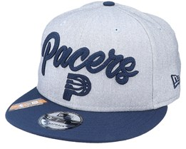 Indiana Pacers NBA 20 Draft 9Fifty Heather Grey/Navy Snapback - New Era