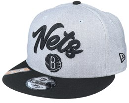 Brooklyn Nets NBA 20 Draft 9Fifty Heather Grey/Black Snapback - New Era