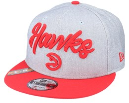 Atlanta Hawks NBA 20 Draft 9Fifty Heather Grey/Red Snapback - New Era