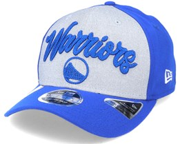 Golden State Warriors NBA 20 Draft 9Fifty Stretch Snap Grey/Royal Blue Adjustable - New Era