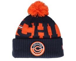 Chicago Bears NFL 20 On field Sport Knit OFC Navy Pom - New Era