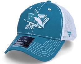 San Jose Sharks Sport Resort Struct Active Blue/White Trucker - Fanatics
