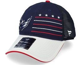 Washington Capitals Waving Flag Trucker Athl Navy/Grey Trucker - Fanatics