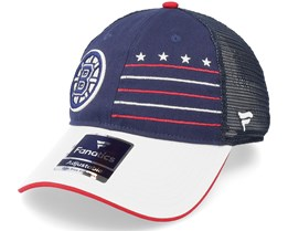 Boston Bruins Waving Flag Athl Navy Trucker - Fanatics