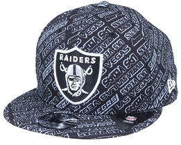 Las Vegas Raiders M 9Fifty Allover B6 Black Snapback - New Era