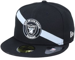 Las Vegas Raiders M 59Fifty Stripe B6 Black Fitted - New Era