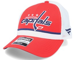 Kids Washington Capitals NHL Draft Home Structured Red/White Trucker - Fanatics