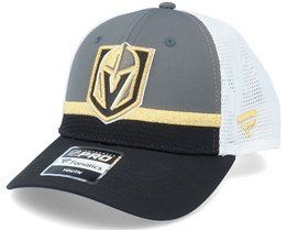 Kids Vegas Golden Knights NHL Draft Home Structured Charcoal/Black/White Trucker - Fanatics