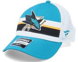 Kids San Jose Sharks NHL Draft Home Structured Teal/White Trucker - Fanatics