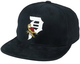 Scorpion Rose Black Snapback - Primitive Apparel