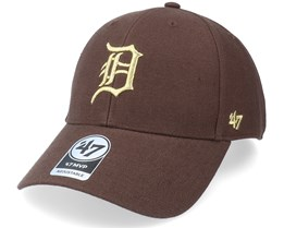 Detroit Tigers Metallic Mvp Brown/Gold Adjustable - 47 Brand