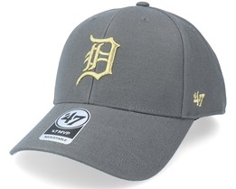 Detroit Tigers Metallic Mvp Charcoal/Gold Adjustable - 47 Brand