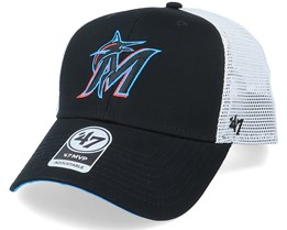 Miami Marlins Branson Mvp Black/White Trucker - 47 Brand