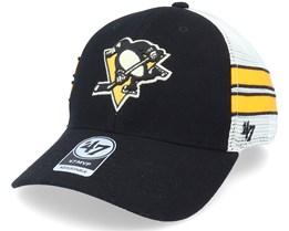 Pittsburgh Penguins Wilis Mvp Black/White Trucker - 47 Brand