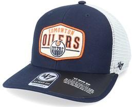 Edmonton Oilers Shumay Mvp Dp Navy/White Trucker - 47 Brand