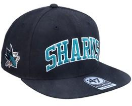 San Jose Sharks Kingswood Captain Black Snapback - 47 Brand
