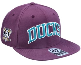 Anaheim Ducks Kingswood Captain Plum Snapback - 47 Brand