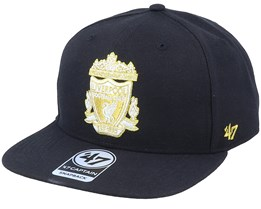 Hatstore Exclusive x Liverpool Captain No Shot Metallic Black Snapback - 47 Brand