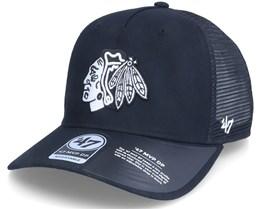 Chicago Blackhawks Level Mesh Mvp Dv Black Trucker - 47 Brand