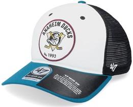 Anaheim Ducks Swell Mvp Dv White/Black/Teal Trucker - 47 Brand