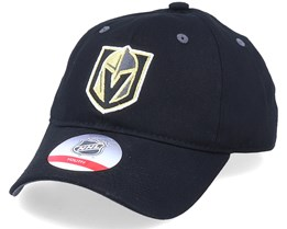 Kids Vegas Golden Knights Team Slouch Black Dad Cap - Outerstuff