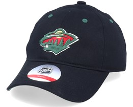 Kids Minnesota Wild Team Slouch Black Dad Cap - Outerstuff