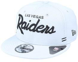 Las Vegas Raiders NFL 20 Side Lines Home Em 9Fifty OTC Grey Snapback - New Era