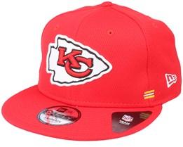 Kansas City Chiefs NFL 20 Side Lines Home Em 9Fifty OTC Red Snapback - New Era