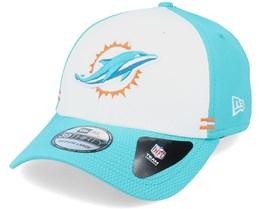 Miami Heat NFL 20 Side Lines Home 39Thirty OTC White/Teal Flexfit - New Era