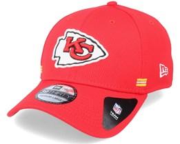 Kansas City Chiefs NFL 20 Side Lines Home 39Thirty OTC Red Flexfit - New Era