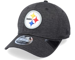 Pittsburgh Steelers Tonal Shadow Tech 9Fifty Black Adjustable - New Era