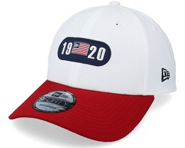 Tri Colour 9Forty White/Red Adjustable - New Era