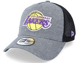 LA Lakers Jersey Essential Heather Grey/Black Trucker - New Era