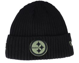 Pittsburgh Steelers Salute To Service NFL 20 Knit Black Cuff - New Era