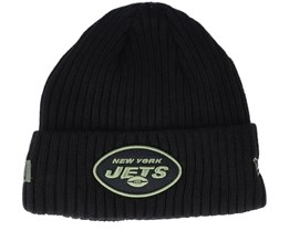 New York Jets Salute To Service NFL 20 Knit Black Cuff - New Era