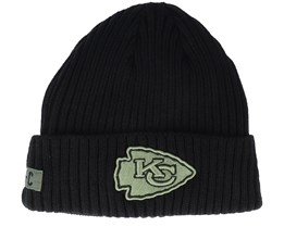 Kansas City Chiefs Salute To Service NFL 20 Knit Black Cuff - New Era