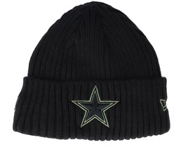 Dallas Cowboys Salute To Service NFL 20 Knit Black Cuff - New Era